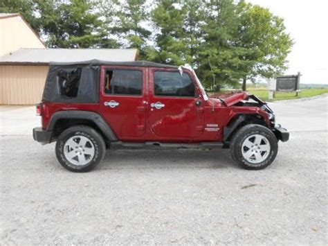 wrecked jeep find used 2011 jeep wrangler 4 door 4x4 salvage wrecked