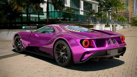 The Gallery For Gt Black Blue And Purple Hair | ford gt 2017 purple by crazypxt on deviantart