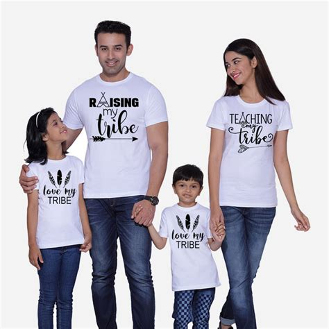 T Shirt Family raising my tribe teaching my tribe my tribe