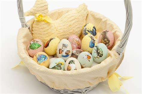 Easter Decoupage - decoupage eggs easter craft decorating ideas celebrate