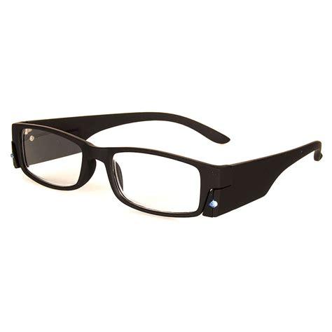 blue banana reading glasses with light light up glasses