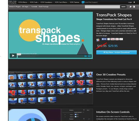 final cut pro visual effects pixel film studios announces the release of transpack