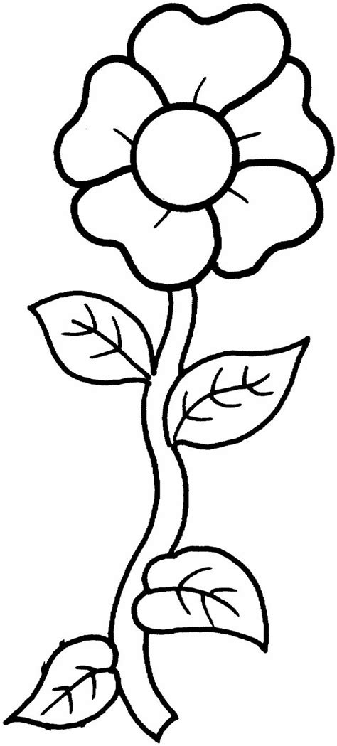 flower coloring pages a single flower coloring free
