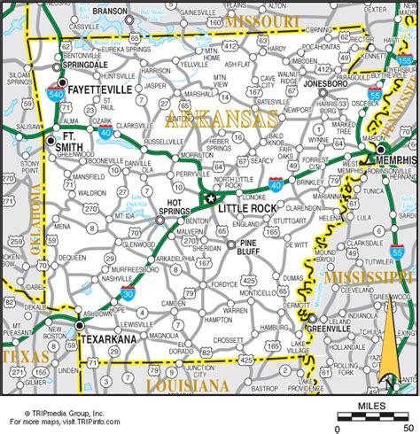 printable road map arkansas arkansas map