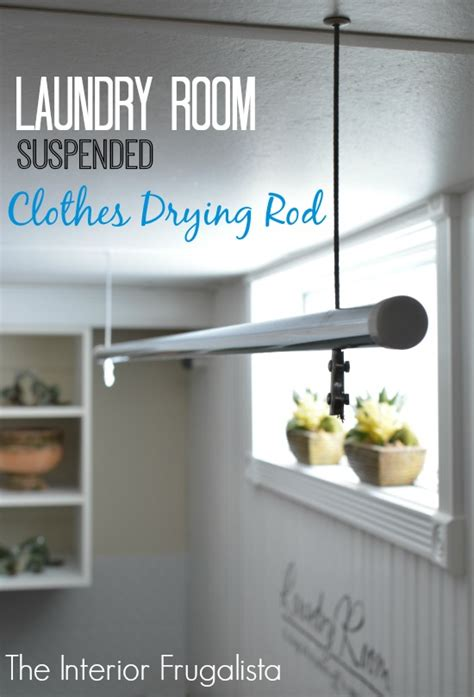 laundry room drying rod suspended clothes drying rod the interior frugalista suspended clothes drying rod