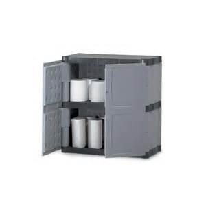 Rubbermaid Plastic Storage Cabinets With Rubbermaid Plastic Storage Cabinet 37 Quot H Gray 29 99