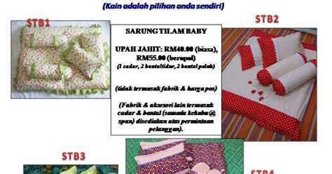 Upah Sarung Bantal mkina fashions set tilam baby