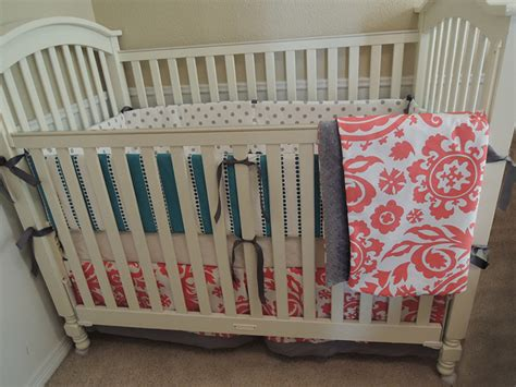 coral crib bedding sets coral and turquoise baby bedding set babylovin