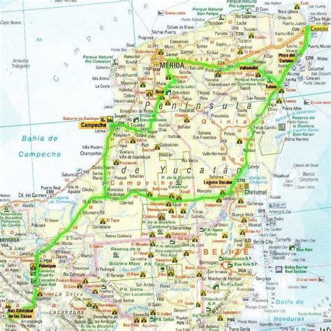 map of mexico yucatan peninsula road map mexico yucatan