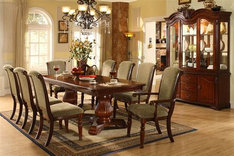 solid wood formal dining room sets majesta ii double pedestal solid wood dark cherry 9pc