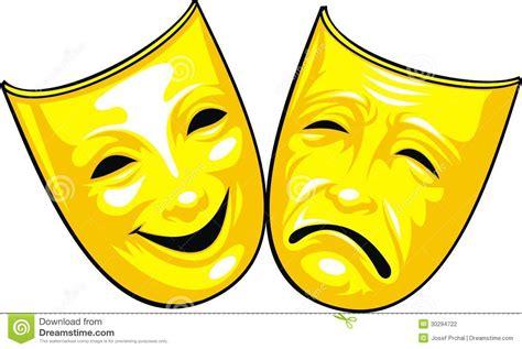 Masker Tiff gouden maskers theater vector illustratie afbeelding