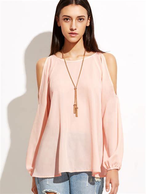 Sleeve Top open shoulder raglan sleeve top shein sheinside