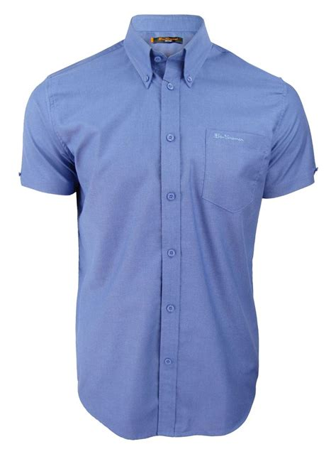 ben sherman classic short sleeved oxford shirt in ballerina size m mens ben sherman classic eton oxford shirt plain short