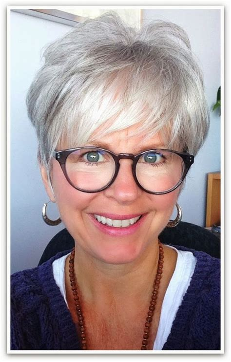 frames for grey hair i love the look grey hair great cut great glasses
