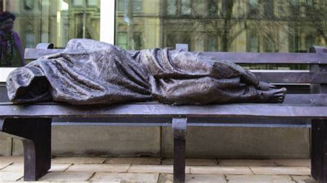 homeless jesus on park bench homeless jesus statue gets mixed reviews in indianapolis