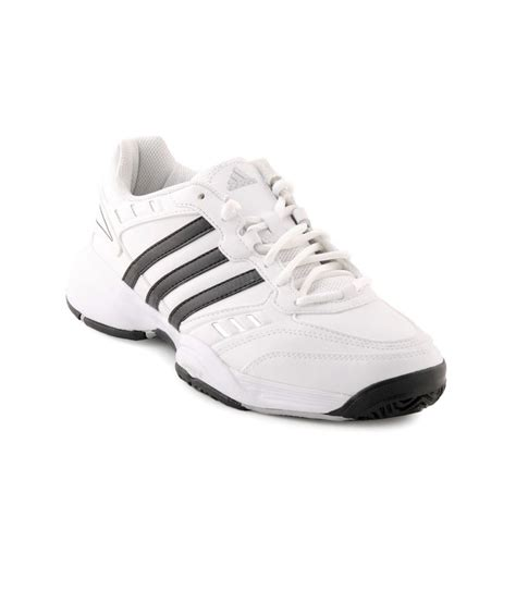 white leather sports shoes buy adidas white synthetic leather sports shoes for