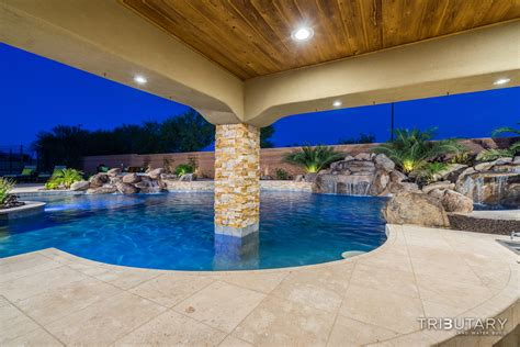 backyard living pools backyard boulder living tributary pools spas