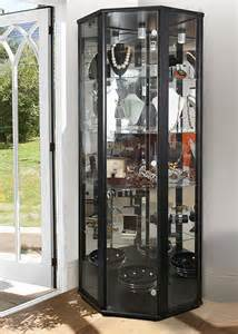 Glass Corner Display Cabinet Sale Corner Glass Display Cabinet Black