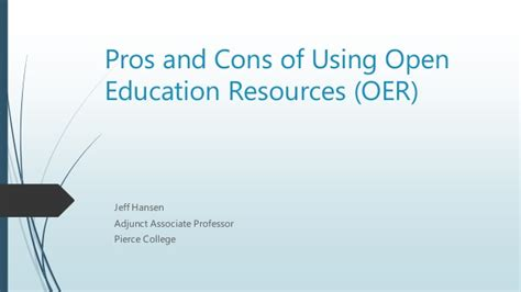 Cons Of Mba by Pros And Cons Of Using Open Education Resources