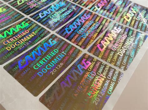 printable hologram stickers ultra destructible vinyl labels certificate transparent