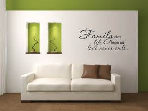 Wall Stickers Family Vinyl Wall Decal Family Where Life Begins And By
