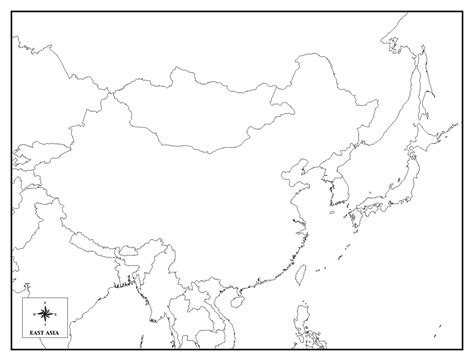 Asia Rivers Outline Map by Best Photos Of Blank Outline Map Of East Asia Blank East Asia Map South East Asia Map Blank