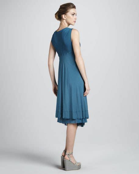 draped waist dress donna karan draped empire waist dress lagoon