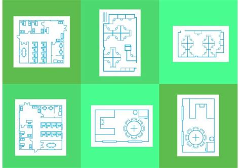 free office floor plans office floor plan vectors free vector