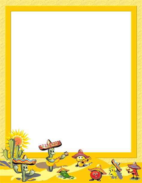 Cinco De Mayo Template Free Cinco De Mayo Stationery Downloads