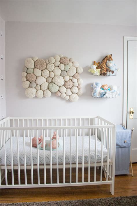 Nursery Decoration Sets Baby Nursery Decor Stony Wall Decal On White Near Door Above Wooden Crib Sheep Baby