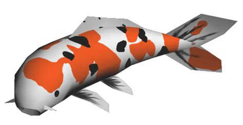 Papercraft Fish - papercraft koi fish by jyxxie on deviantart