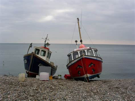 on a boat beer fishing boats on beer beach 169 gary radford geograph