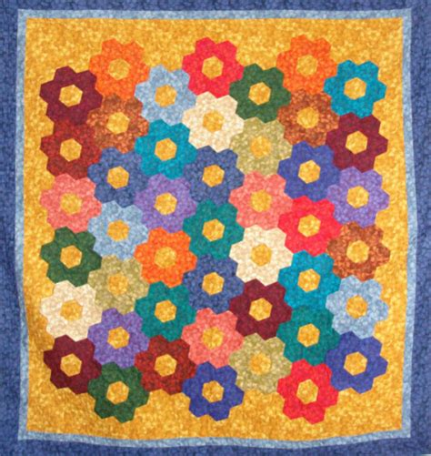 Gardens Inc 3 Flower Patterns Free Garden Quilt Pattern