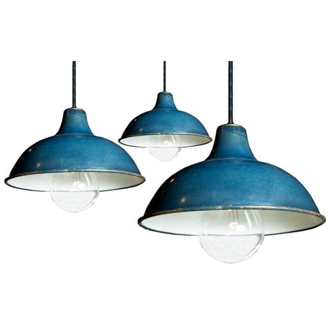 Blue Light Fixtures Industrial Blue Pendant Light Fixtures Colour Pinterest
