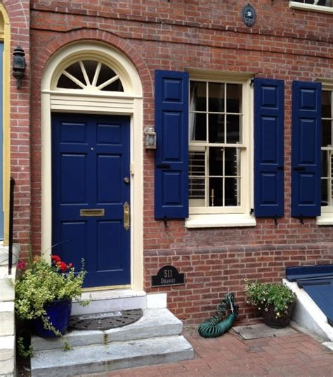 Blue Front Door Colors Door Inspiration Philadelphia Society Hill Historic