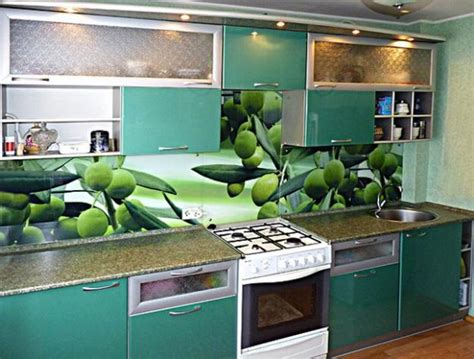 kitchen glass backsplash with digital printing made of colorful glass backsplash ideas adding digital prints to