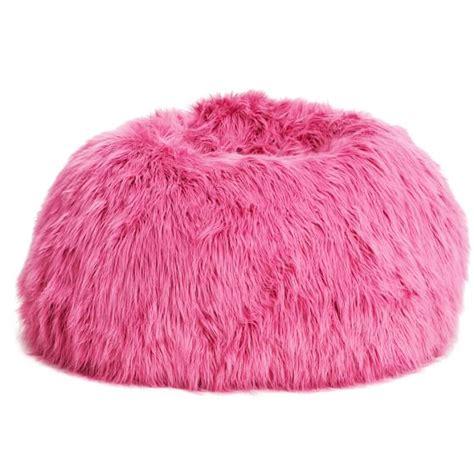 Fuzzy Bean Bag Chair Pink Fur Rific Beanbag Pbteen