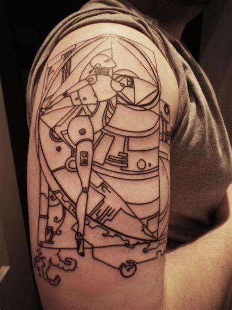 art deco tattoos deco robots tattoos favourite pins