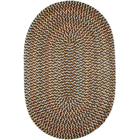 rhody rugs rhody rug revere brown velvet 3 ft x 5 ft oval indoor outdoor braided area rug re37r036x060