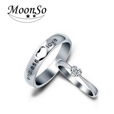 moonso 925 sterling silver rings cz rings