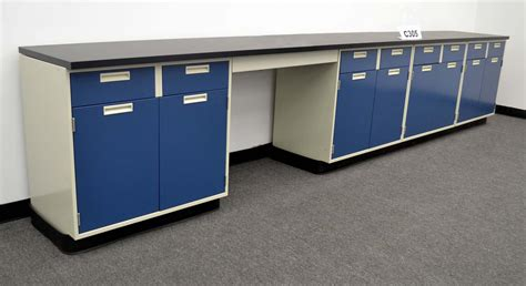 15 base laboratory cabinets w chemical resistant counter tops c305 nls
