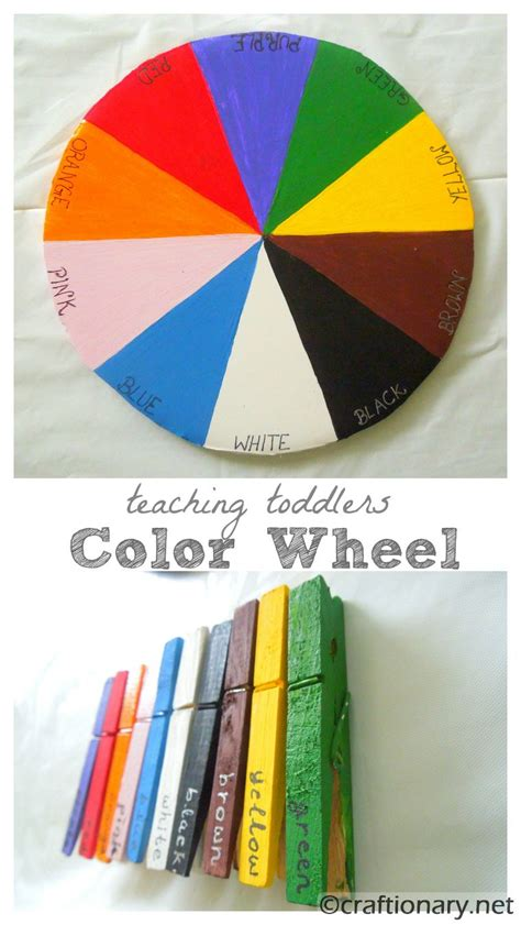 teaching colors to toddlers craftionary