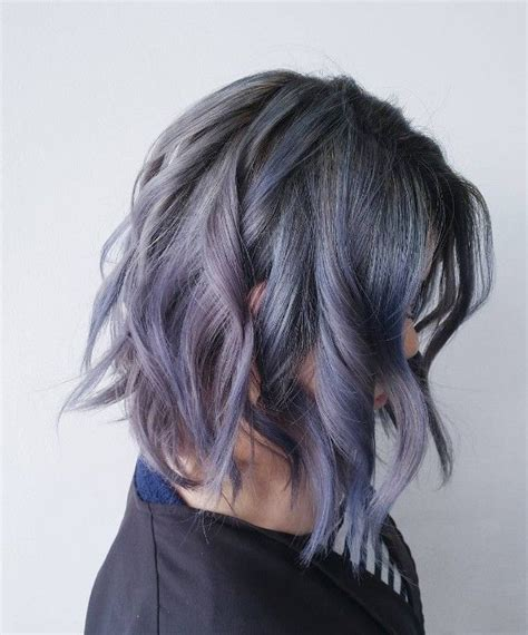 how to frost gray hair purple and frost gray multi dimensional color lob and