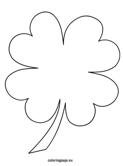 4 leaf clover template 4 leaf clover coloring page templates patterns