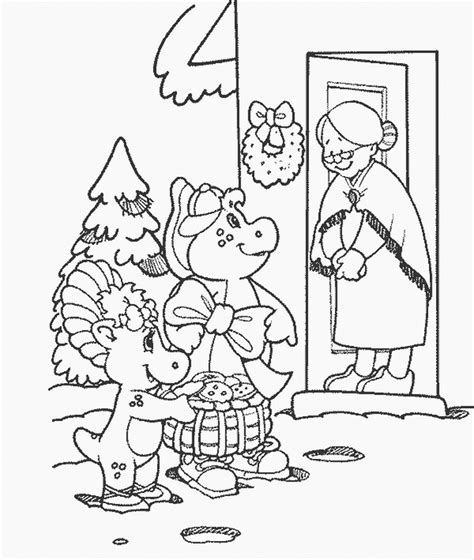 barney coloring pages pdf coloring pages gt barney friends gt 042 barney and friends