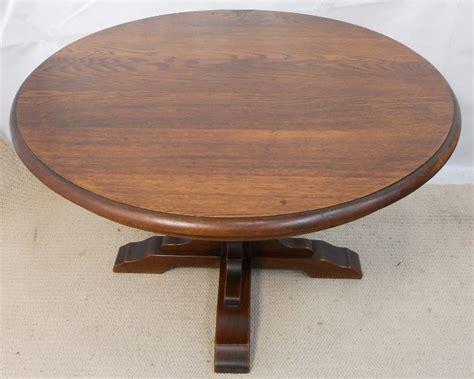 pedestal oak table round oak table garden tables