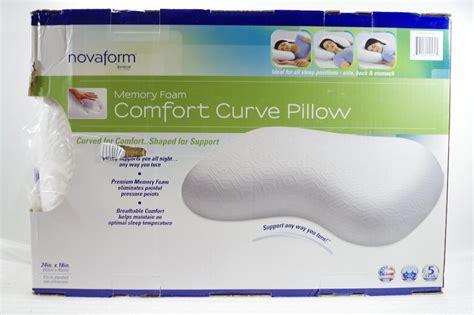 novaform comfort curve pillow novaform memory foam comfort curve pillow store return