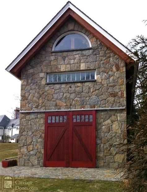Barn Door Garage Door Mahogany Sliding Barn Doors Garage Doors And Openers By Real Carriage Door Company