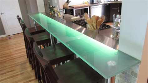 modern bar tops kitchen glass bar top contemporary kitchen chicago