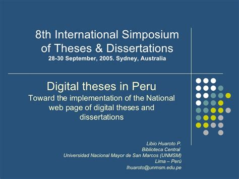 digital dissertation digital thesis unmsm